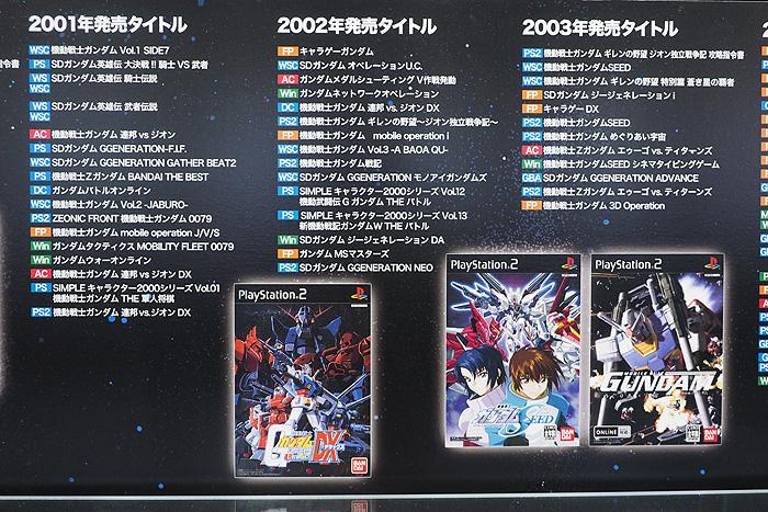 ガンダムゲーム30周年展 035