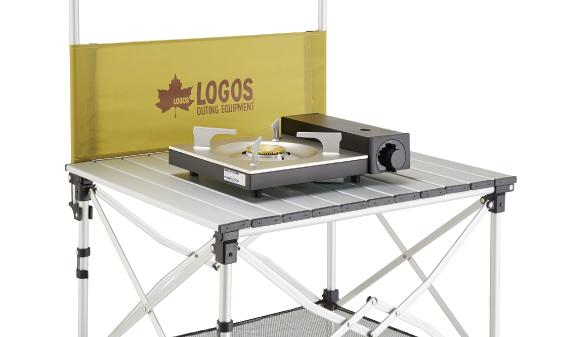 カセットコンロ用 smart LOGOS kitchen クックテーブル(風防付き)