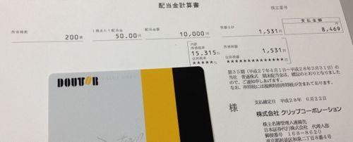 4705 クリップコーポレーション 配当金