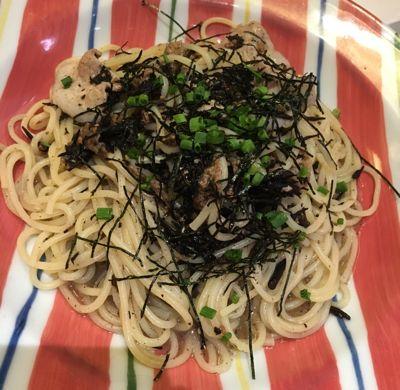 鎌倉パスタ 豚肉とひじきの和風パスタ