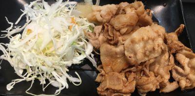 過去の豚生姜焼き定食 メイン