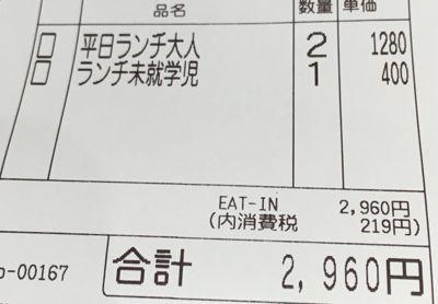 AEN TABLE 平日ランチタイムのお値段
