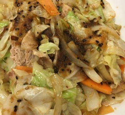 スタミナ肉野菜炒め定食 メイン