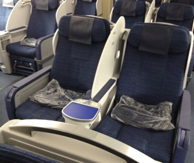ANA851便 ビジネスクラスの座席