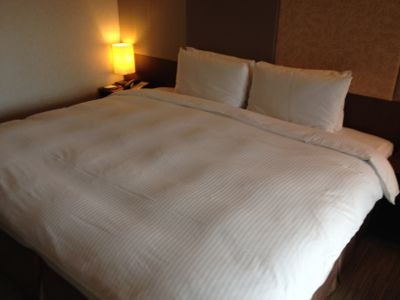 パークタイペイホテル(台北美侖大飯店) 大きめサイズのベッド