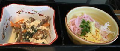 国内線ファーストクラス機内食(1)