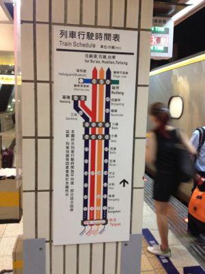 日本でも見かけるような所要時間表