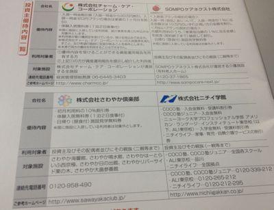 日本ヘルスケア投資法人 投資口優待