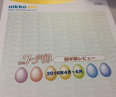日興アセットマネジメント GW7つの卵 四半期レビュー