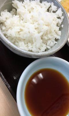 上天ぷら定食 ご飯と天つゆ