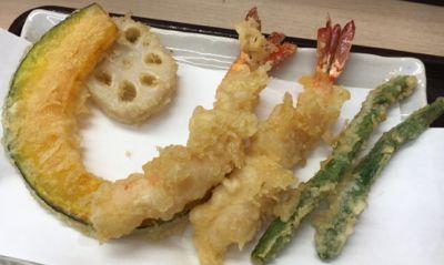 上天ぷら定食 天ぷら