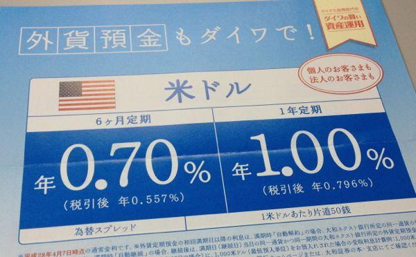 大和ネクスト銀行 米ドル建て外貨預金の案内