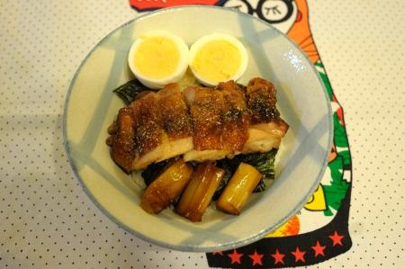 鶏の照り焼き段