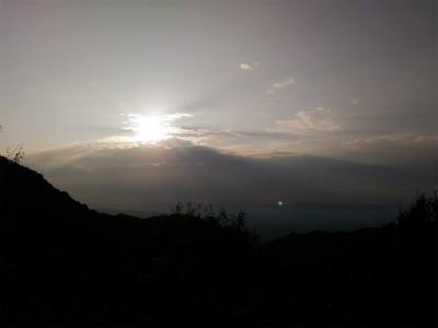 信貴山の朝陽20160731