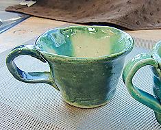織部コーヒーカップ