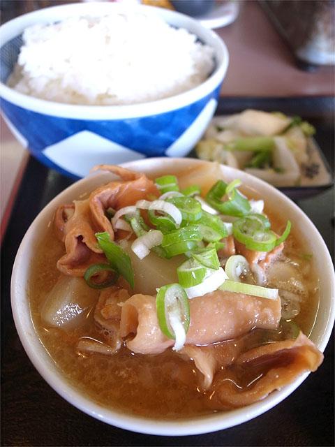 150921ホルモン料理 円城-もつ煮込みとご飯