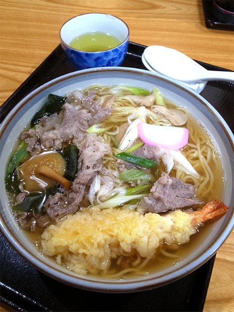 150922お好み焼き ナニワ-天ぷらラーメン
