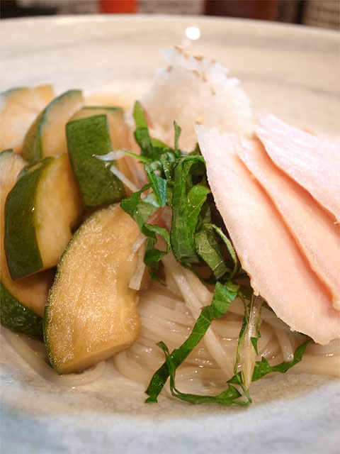 160708麺座かたぶつ-冷製つけ麺 EDAMA麺・具