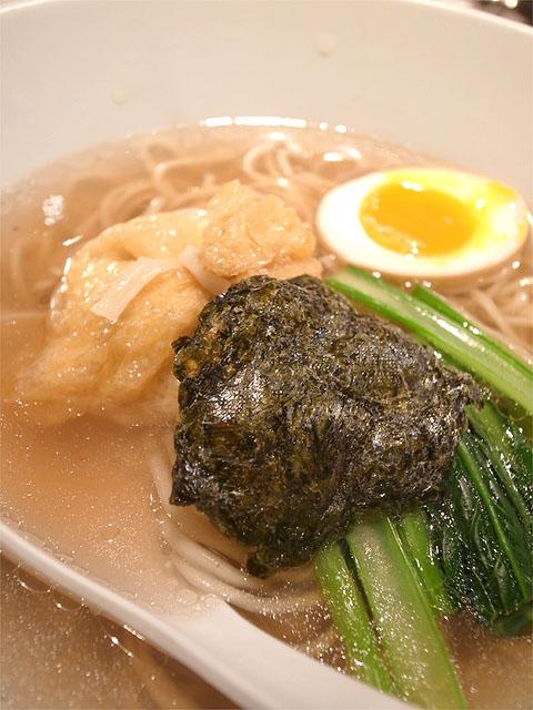 150523一風堂本町通り-うま味海苔出汁そば・海苔煎餅と巾着