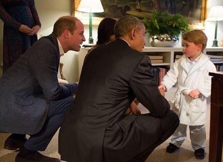 ジョージ王子とオバマ