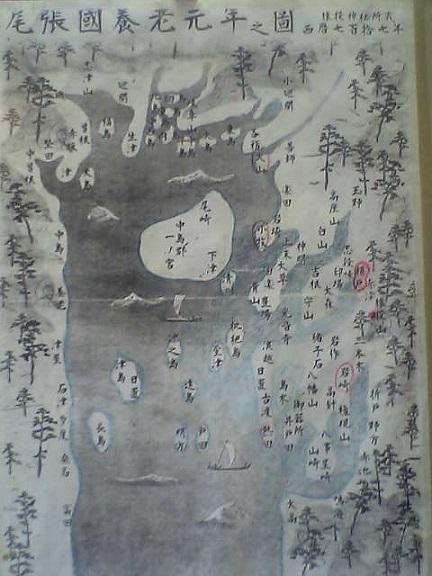 1300年前の名古屋一帯地図