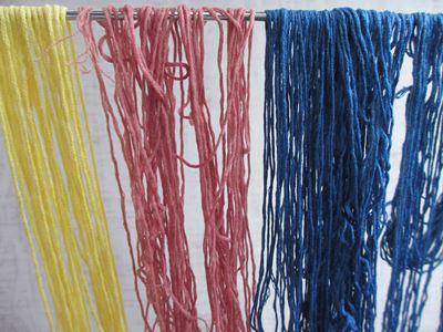 刺繍糸の染色