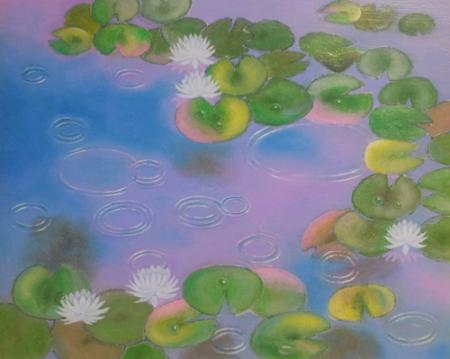 虹色の睡蓮池