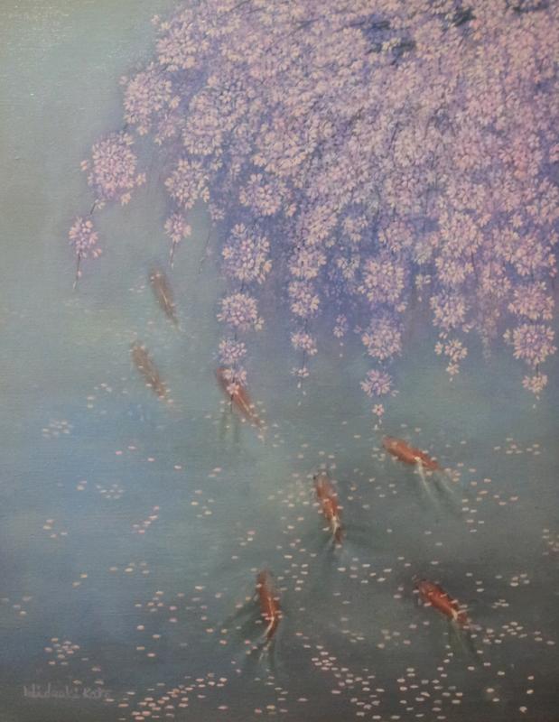 枝垂れ桜を行く