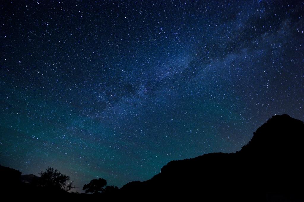 ボイントンキャニオンの星空 Starry sky over the Boynton Canyon