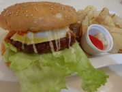佐賀牛ハンバーグサンド