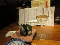 獺祭とサバ寿司サバ寿司はこれで580円。高いか安いか?