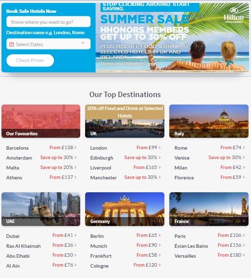 ヒルトンHオナーズヨーロッパ、中東、アフリカのためのサマー週末セール30%OFFまで