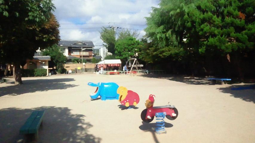 公園で地蔵盆