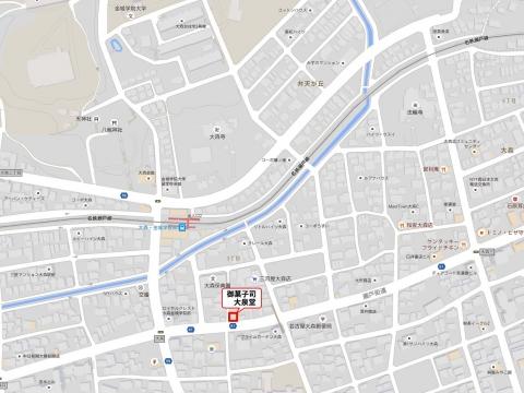 大泉堂地図