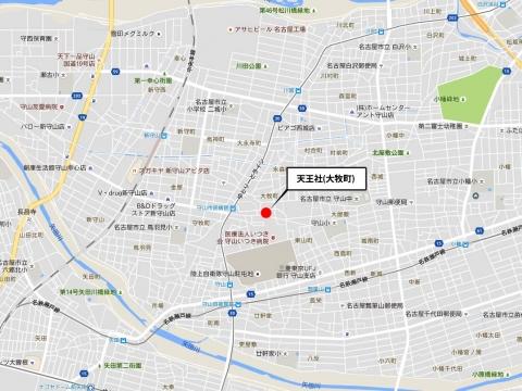 天王社(大牧町)位置