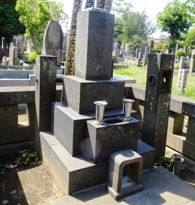 獅子文六の墓(岩田家の墓)