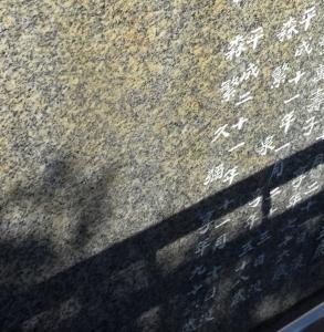 墓石に刻まれた森繁久彌の名