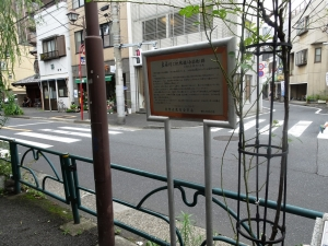 藍染川と枇杷橋(合染橋)跡