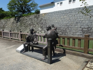 東海道中膝栗毛の像