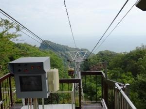 前方に見える久能山