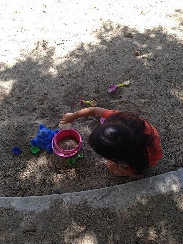 砂をまたまたいれまーす