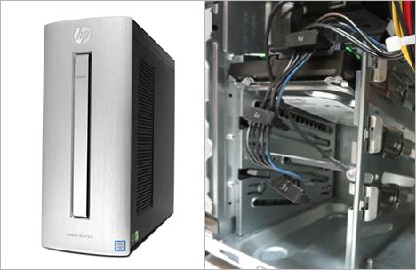 HPデスクトップPCのストレージベイにSSDHDDを増設
