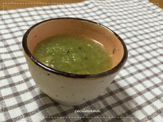 きゅうりのコンソメスープ