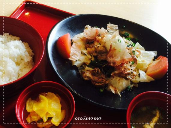 豚肉とキャベツのポン酢炒め定食