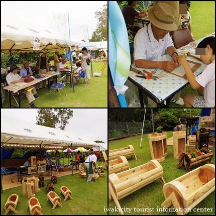 竹と木製プランター