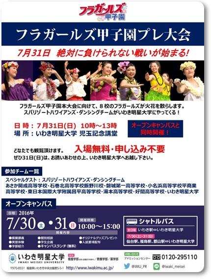 0731フラガールズ甲子園プレ大会blog