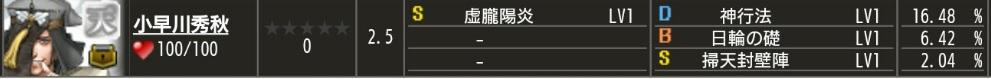 天 小早川 S1