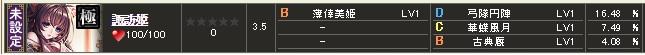 極 諏訪姫 テーブル1