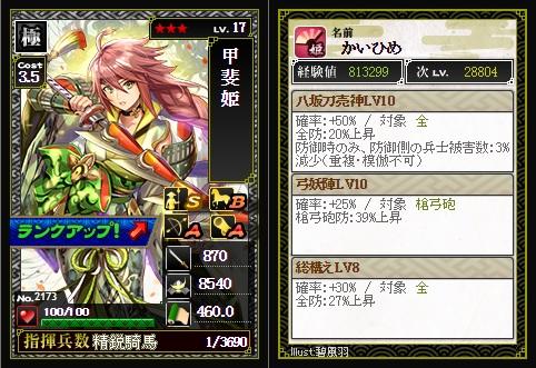 甲斐姫Lv17