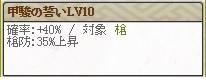 甲駿の誓いLv10